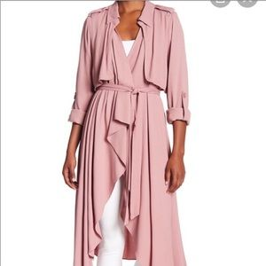 NWT Revolve Line and Dot Mauve Flowy Trench Coat